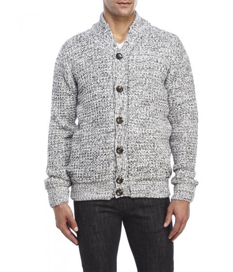 Imbracaminte Barbati American Stitch Waffle Knit Cardigan Black White