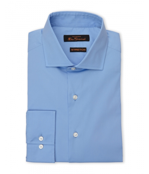 Imbracaminte Barbati Ben Sherman Blue Poplin Stretch Dress Shirt Blue