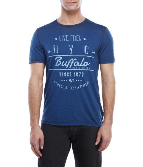 Imbracaminte Barbati Buffalo David Bitton Nandon Burnout Graphic Tee Lapis
