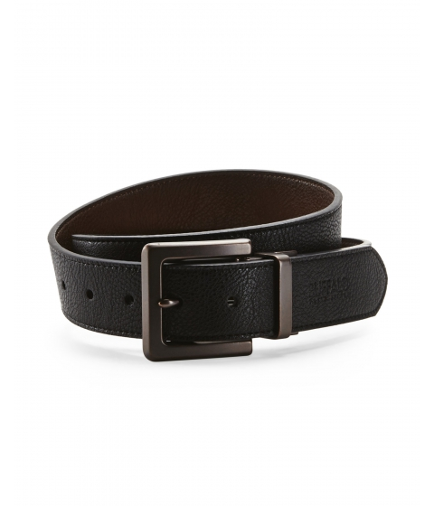 Accesorii Barbati Buffalo David Bitton Reversible Logo Belt Blkbrown