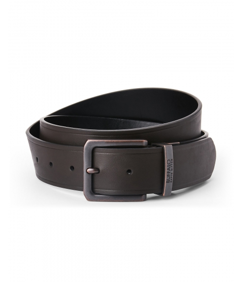 Accesorii Barbati Buffalo David Bitton Reversible Faux Leather Belt Dark Brown Black