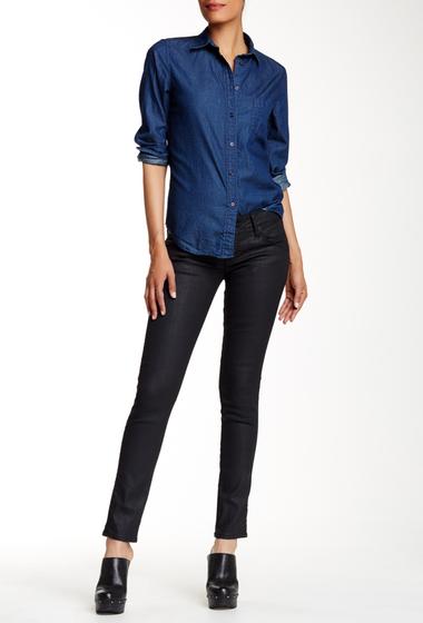 Imbracaminte Femei HUDSON Jeans Collin Coated Flap Pocket Skinny Jean SUPERHERO