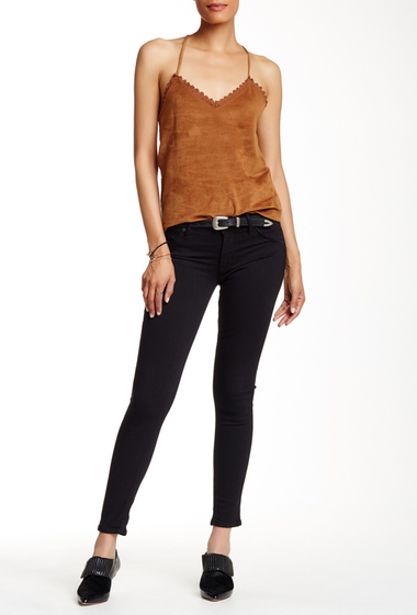 Imbracaminte Femei HUDSON Jeans Lilly Mid Rise Ankle Skinny Jean BLACK DESTRUCTED