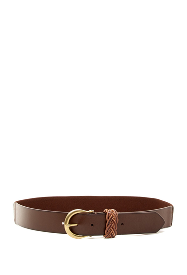 Accesorii Femei Linea Pelle Braided Keeper Stretch Belt BROWN