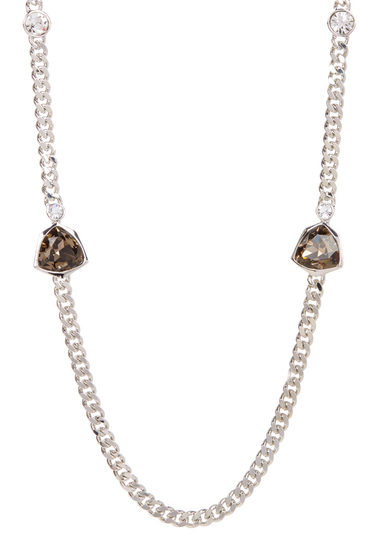 Bijuterii Femei Givenchy Crystal Chainlink Necklace SILVER