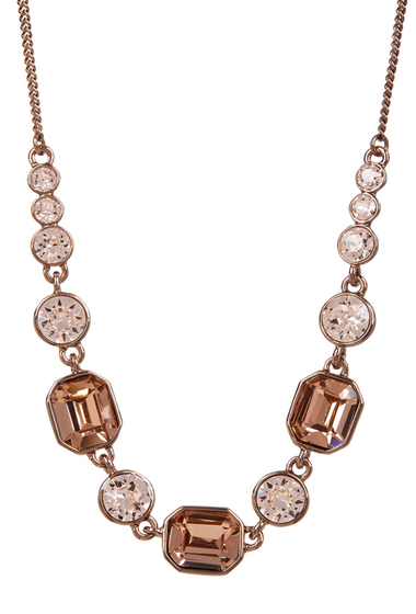 Bijuterii Femei Givenchy Square Crystal Necklace BROWN GOLD
