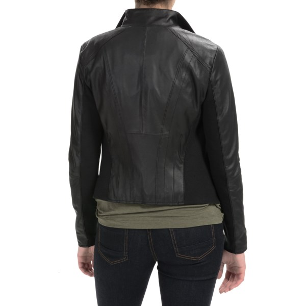 Imbracaminte Femei Marc New York by Andrew Marc Knit-Inset Leather Jacket BLACK (01)