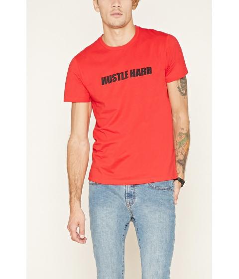 Imbracaminte Barbati Forever21 Hustle Hard Tee Redblack
