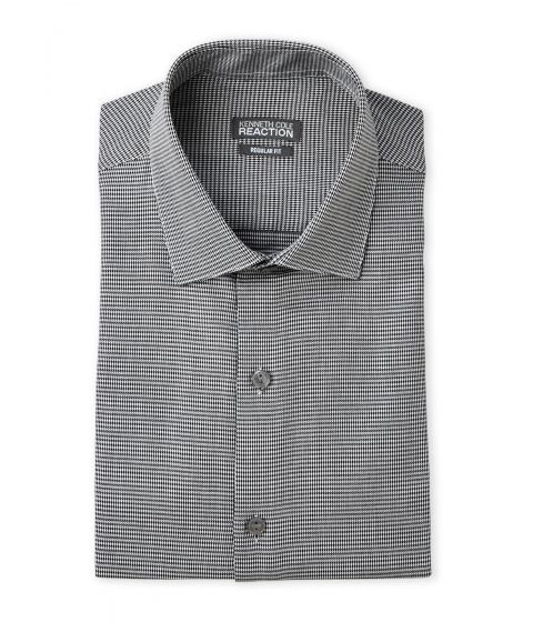 Imbracaminte Barbati Kenneth Cole Reaction Houndstooth Regular Fit Dress Shirt Black