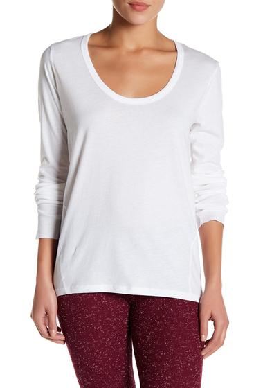 Imbracaminte Femei Alternative Apparel Rib Long Sleeve Tee WHITE