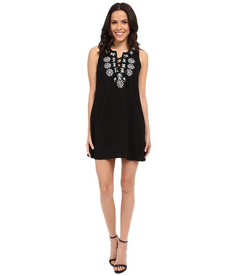 Imbracaminte Femei Brigitte Bailey Aprilia Lace-Up Shift Dress Black