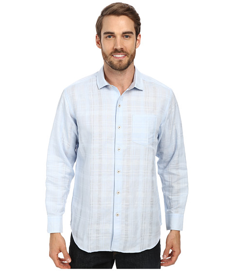 Imbracaminte Barbati Tommy Bahama Squarely There LS Button Up Key West Blue