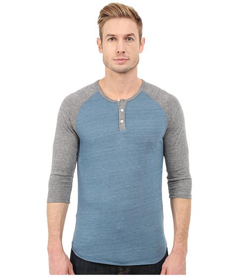 Imbracaminte Barbati Alternative Apparel Raglan Henley Eco True Blue Ash
