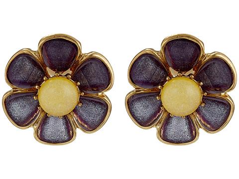 Bijuterii Femei Betsey Johnson Spring Ahead Flower Clip On Earrings Purple