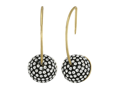 Bijuterii Femei Marc by Marc Jacobs Small Pave Cabochon Hoop Earrings Black Multi