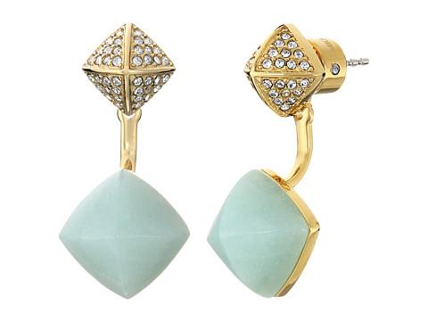 Bijuterii Femei Michael Kors Blush Rush Semi Precious Pave Pyramid Stud Earrings GoldMintClear