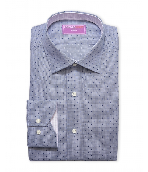Imbracaminte Barbati Lorenzo Uomo Trim Fit Dress Shirt Blue