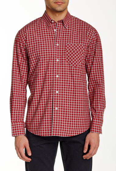 Imbracaminte Barbati Billy Reid Walland Long Sleeve Shirt ROLLNG RED