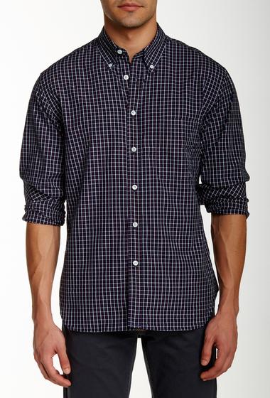 Imbracaminte Barbati Billy Reid Tuscumbia Long Sleeve Shirt NAVY-RED