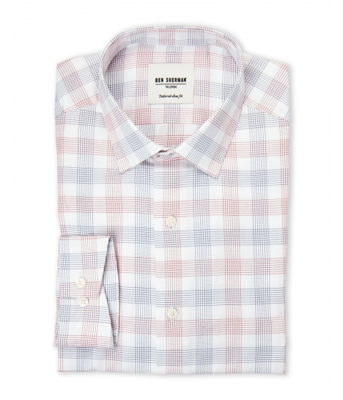 Imbracaminte Barbati Ben Sherman Red Blue Plaid Dress Shirt Red Blue