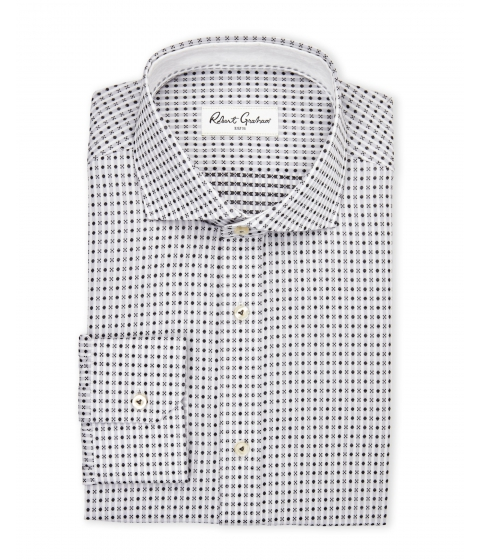 Imbracaminte Barbati Robert Graham Grey Chai Button Down Dress Shirt Grey