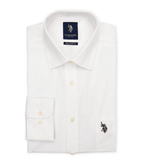 Imbracaminte Barbati US Polo Assn White Regular Fit Dress Shirt White