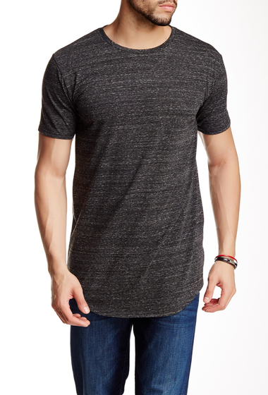 Imbracaminte Barbati Drifter Crew Neck Short Sleeve Shirttail Tee CHARCOAL HEATHER