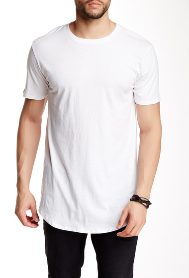 Imbracaminte Barbati Drifter Crew Neck Short Sleeve Shirttail Tee WHITE