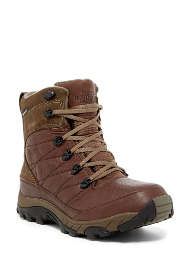 Incaltaminte Barbati The North Face Chilkat Leather Insulated Boot DEMITASSEBROWN-SHROOMBRWN