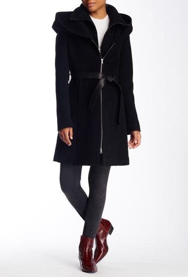 Imbracaminte Femei Soia Kyo Scuba Inset Wool Blend Hooded Coat BLACK