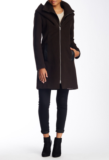 Imbracaminte Femei Soia Kyo Scuba Inset Wool Blend Hooded Coat COCO