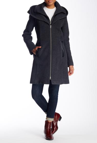 Imbracaminte Femei Soia Kyo Scuba Inset Wool Blend Hooded Coat GREY
