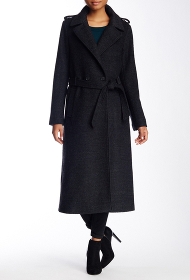 Imbracaminte Femei Soia Kyo Wool Blend Double Breasted Relaxed Trench CHARCOAL
