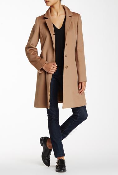 Imbracaminte Femei Cinzia Rocca Notch-Stand Collar Wool Coat CAMEL