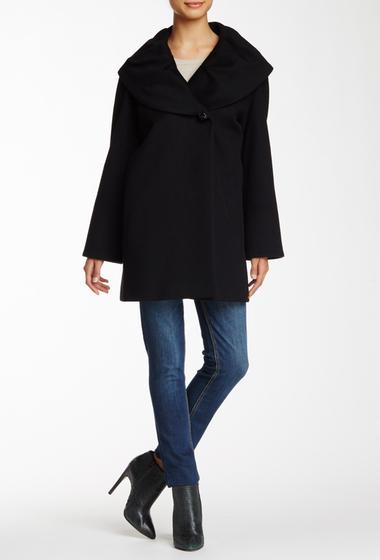 Imbracaminte Femei Cinzia Rocca Shawl Collar Wool Coat BLACK
