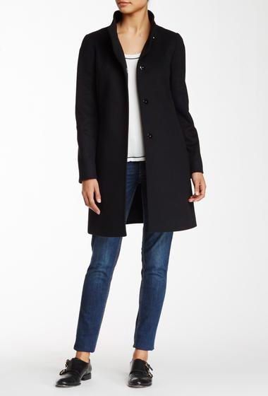 Imbracaminte Femei Cinzia Rocca Wool Cashmere Blend Stand-Up Collar Coat BLACK