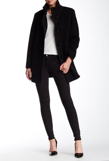 Imbracaminte Femei Cinzia Rocca Wool Blend Stand-Up Collar Coat BLACK