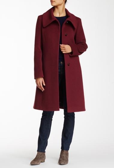 Imbracaminte Femei Cinzia Rocca Wool Blend Fold Collar Coat PLUM