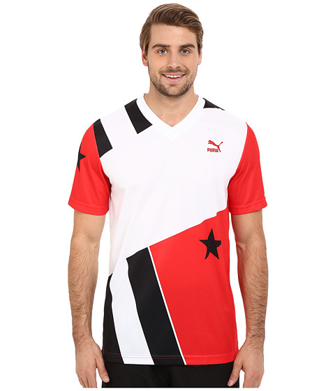 Imbracaminte Barbati PUMA Football Stars and Stripes Tee High Risk Red