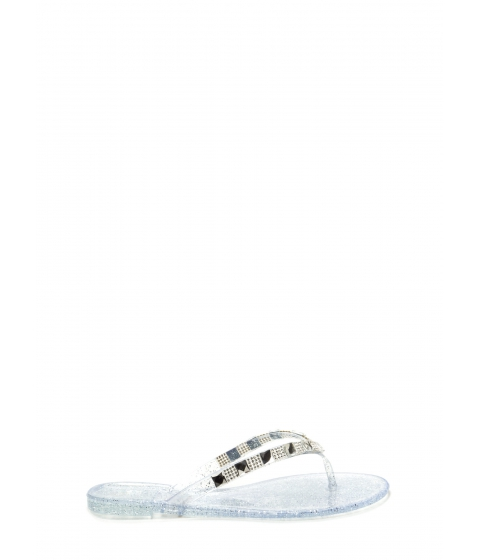 Incaltaminte Femei CheapChic Brilliant Mind Jeweled Sandals Clear