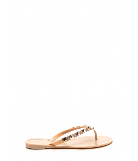 Incaltaminte Femei CheapChic Brilliant Mind Jeweled Sandals Nude