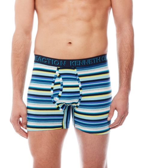 Imbracaminte Barbati Kenneth Cole Reaction Multi-Stripe Open Pouch Boxer Briefs Teal