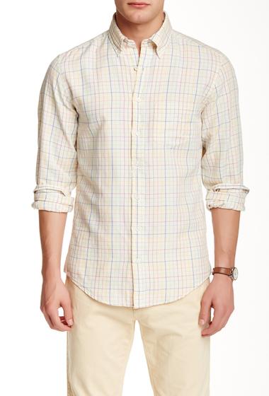 Imbracaminte Barbati Gant L Sunset Check Long Sleve Regular Fit Shirt WHITE