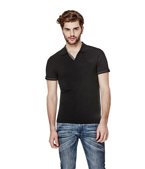 Imbracaminte Barbati GUESS Salvator Johnny Polo jet black