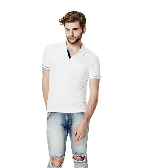 Imbracaminte Barbati GUESS Salvator Johnny Polo true white