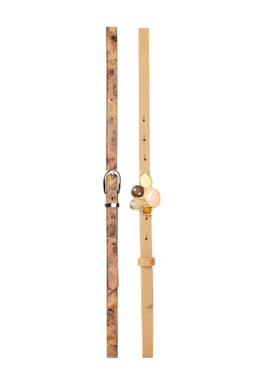 Accesorii Femei Steve Madden Jewel Plaque 2-for-1 Belt - Set of 2 MULTI