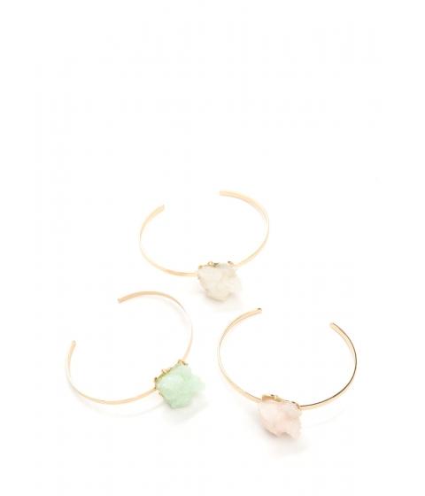 Accesorii Femei CheapChic Organic Outlook Mineral Cuff Bracelet Set Multi