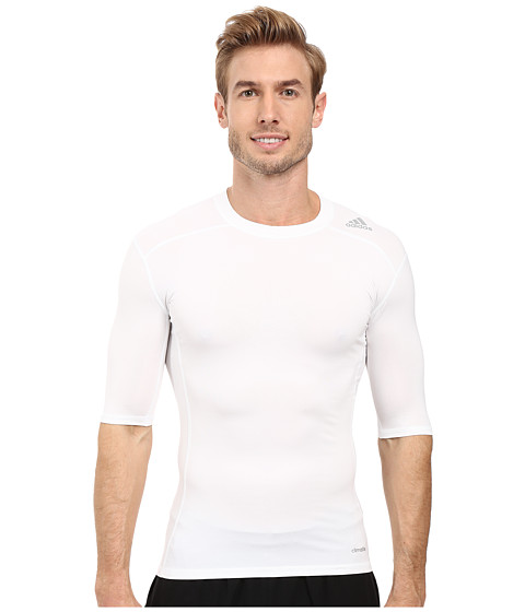 Imbracaminte Barbati adidas Techfit Base Layer Short Sleeve Tee White