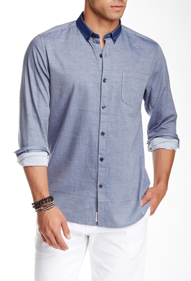 Imbracaminte Barbati Civil Society Humphry Long Sleeve Shirt INDIGO