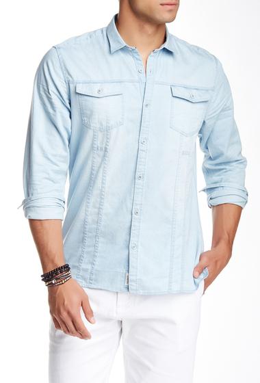 Imbracaminte Barbati Civil Society Darby Long Sleeve Denim Shirt BLEACHED INDIGO